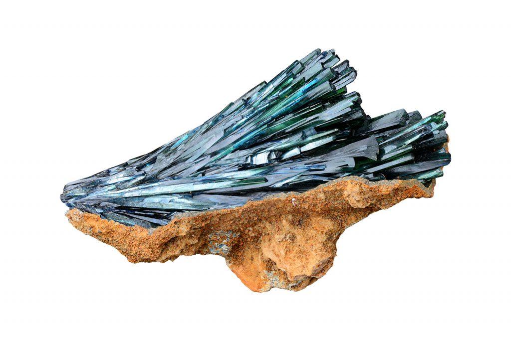Cristalli di vivianite
