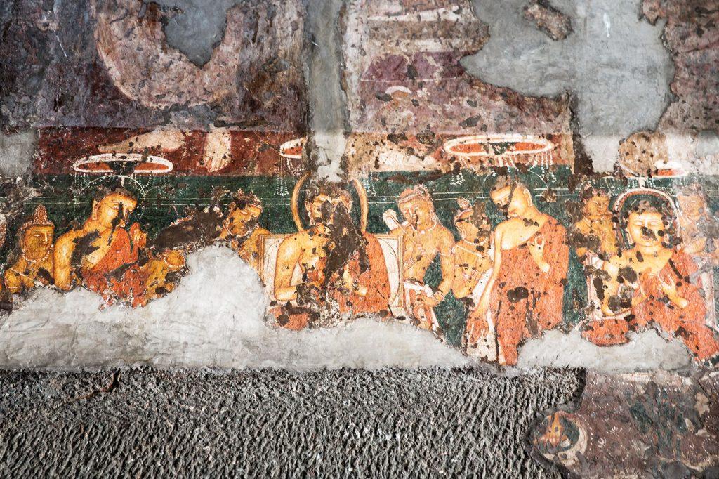 affreschi delle Grotte di Ajanta, in India